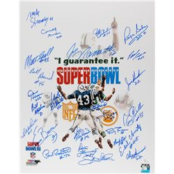 "Super Bowl III New York Jets ""I Guarantee It"" 16x20 Photo Signed by (24) With Joe Namath, Al Atkinso"