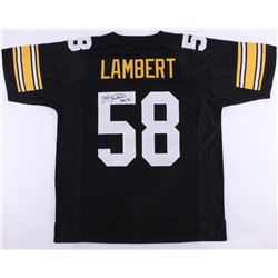 "Jack Lambert Signed Steelers Jersey Inscribed ""HOF 90"" (JSA COA)"