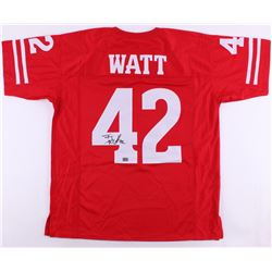 T. J. Watt Signed Wisconsin Badgers Jersey (Watt Hologram)