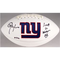 "Lawrence Taylor Signed Giants Logo Football Inscribed ""Last To Wear"" (Radtke COA)"