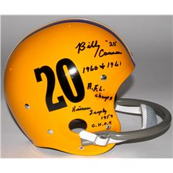 Billy Cannon Signed LSU Tigers Full-Size Throwback Suspension Helmet with (4) Career Highlight Inscr