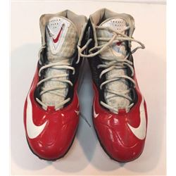 Pair of (2) Matt Ryan 2014 Falcons Game-Used Nike Cleats (Mears LOA)