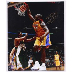 Shaquille O'Neal Signed Lakers 20x24 Photo on Canvas (Schwartz COA)