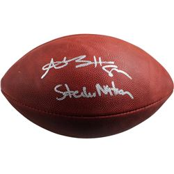"Antonio Brown Signed NFL Football Inscribed ""Steeler Nation"" (Steiner COA)"