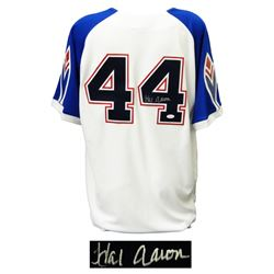 Hank Aaron Signed Majestic Cooperstown Collection 1974 Braves Throwback Jersey (JSA COA)