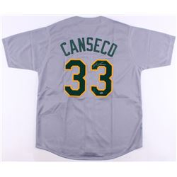 Jose Canseco Signed Oakland Jersey (LEAF COA)