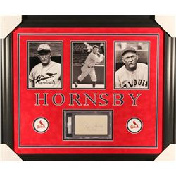 Roger Hornsby Signed Cardinals 23x27 Custom Framed Cut Display (PSA Encapsulated)