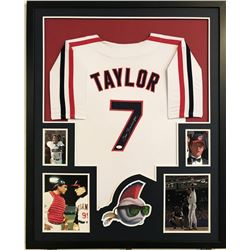 "Tom Berenger Signed ""Major League"" 34"" x 42"" Custom Framed Jersey Display (JSA COA)"