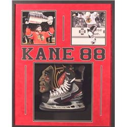 Patrick Kane Signed Blackhawks Ice Skate 26x32x2 Custom Framed Shadowbox Display (JSA LOA)