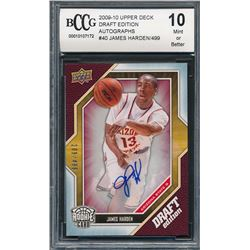 2009-10 Upper Deck Draft Edition Autographs #40 James Harden #209/499 (BCCG 10)