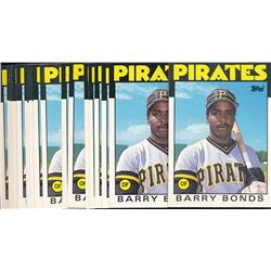 Lot of (20) 1986 Topps Traded #11T Barry Bonds RC