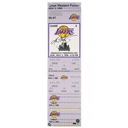 "Kobe Bryant Signed ""1st Game"" 9x33 Limited Edition Oversized Ticket on Canvas (Panini COA)"