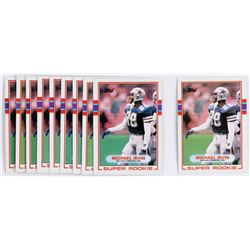 Lot of (10) 1989 Topps #383 Michael Irvin RC
