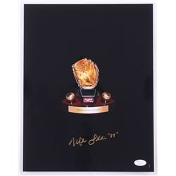 Mike LaValliere Signed Gold Glove Award 11x14 Photo (JSA COA)