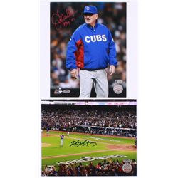 "Lot of (2) Signed Cups 8x10 Photos with (1) Mike Montgomery  (1) Joe Maddon Inscribed ""MOY'15"" (Schw"