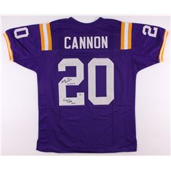 "Billy Cannon Signed LSU Jersey Inscribed ""Heisman Trophy 1959""  ""C.H.O.F"" (Radtke COA)"