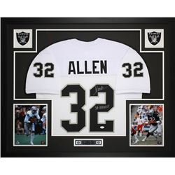 "Marcus Allen Signed Raiders 35"" x 43"" Custom Framed Jersey Inscribed ""SB XVIII MVP"" (JSA COA)"