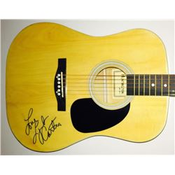 "Lynda Carter Signed Full-Size Huntington Acoustic Guitar Inscribed ""Love"" (JSA LOA)"