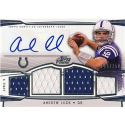 2013 Topps Prime Autographed Relics Level 5 Silver #PVAL Andrew Luck #124/150