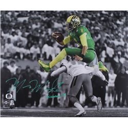 "Marcus Mariota Signed LE Oregon Ducks 20x24 Photo Inscribed ""Heisman '14"" (Steiner COA)"