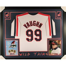 "Charlie Sheen Signed Major League ""Wild Thing"" 35x43 Custom Framed Jersey (JSA COA)"