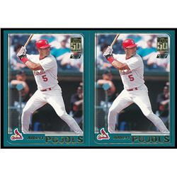 Lot of (2) 2001 Topps Chrome Traded #T247 Albert Pujols