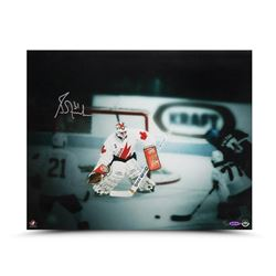 "Grant Fuhr Signed Team Canada ""1987 Canada Cup"" LE 16x20 Photo (UDA COA)"