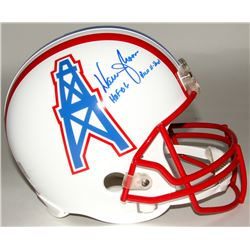 "Warren Moon Signed Oilers Throwback Full-Size Helmet Inscribed ""HOF 06""  ""Run-N-Shoot"" (Moon Hologra"