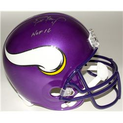 "Brett Favre Signed Vikings Full-Size Helmet Inscribed ""HOF 16"" (Radtke COA)"