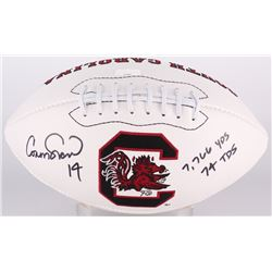 "Connor Shaw Signed South Carolina Gamecocks Logo Football Inscribed ""7,766 YDS""  ""74 TDS"" (Radtke CO"