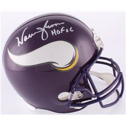 "Warren Moon Signed Vikings Full-Size Helmet Inscribed ""HOF 06"" (Moon Hologram)"