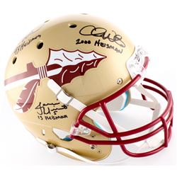 Jameis Winston, Charlie Ward  Chris Weinke Multi-Signed Florida State Seminoles Full-Size Helmet wit