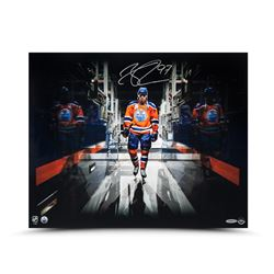 "Connor McDavid Signed Oilers ""Tunnel Vision"" 16x20 Photo (UDA)"