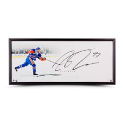 "Connor McDavid Signed Oilers ""The Show"" 20x46 Custom Framed Photo (UDA)"