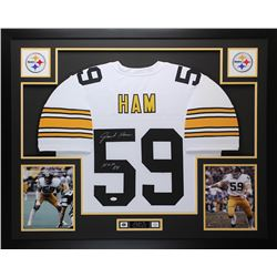 "Jack Ham Signed Steelers 35"" x 43"" Custom Framed Jersey Inscribed ""HOF 88"" (JSA COA)"