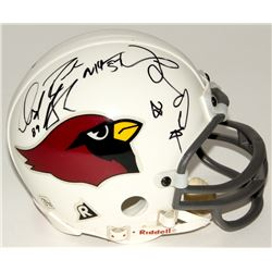 Pat Tillman Signed Cardinals Mini Helmet Signed by (6) With David Boston, Aeneas Williams, Michael P