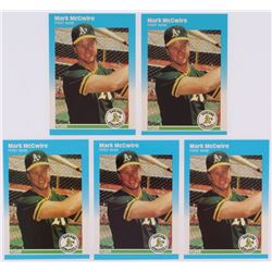 Lot of (5) 1987 Fleer Update Glossy #76 Mark McGwire