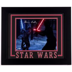 "Daisy Ridley Signed ""Star Wars: The Force Awakens"" 19.5x23.5 Custom Framed Photo (Beckett COA)"