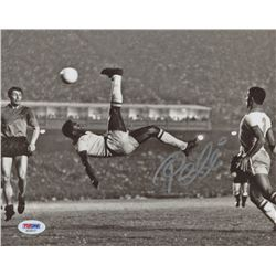 "Pele Signed ""Bicycle Kick"" 8x10 Photo (PSA COA)"