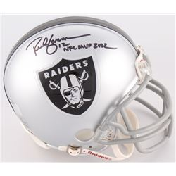 "Rich Gannon Signed Raiders Mini-Helmet Inscribed ""NFL MVP 2002"" (Radtke COA)"