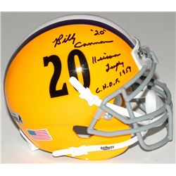 "Billy Cannon Signed LSU Tigers Mini-Helmet Inscribed ""Heisman Trophy 1959""  ""C.H.O.F."" (Radtke COA)"