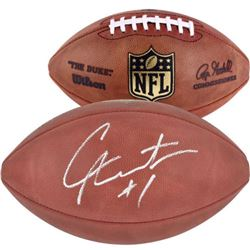 "Cam Newton Signed ""The Duke"" Official NFL Game Ball (Fanatics)"
