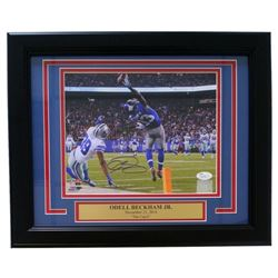"Odell Beckham Jr. Signed Giants ""The Catch"" 11x14 Custom Framed Photo (JSA COA)"