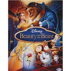 "Paige O'Hara, Richard White  Robby Benson Signed ""Beauty And The Beast"" 11x14 Photo Inscribed ""Belle"