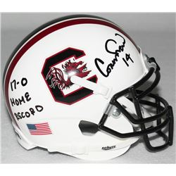 Connor Shaw Signed South Carolina Mini-Helmet Inscribed  17-0 Home Record  (Radtke COA)