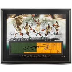 "LeBron James Signed ""Golden Child"" LE 24x36 Custom Framed Game-Used Floor Piece Display (UDA COA)"