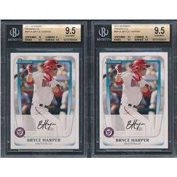 Lot of (2) 2011 Bowman Prospects #BP1A Bryce Harper (BGS 9.5)