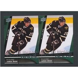 Lot of (2) 2009-10 Upper Deck #212 Jamie Benn YG RC