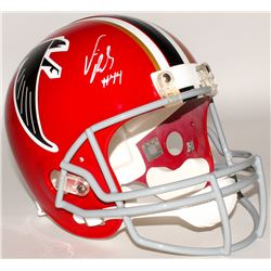 Vic Beasley Signed Falcons Full-Size Throwback Helmet (Radtke COA)