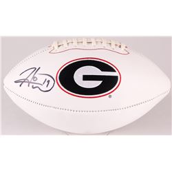 Hines Ward Signed Georgia Bulldogs Logo Football (Radtke COA)